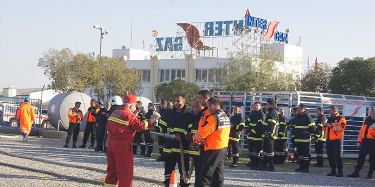 Sivil Savunma Teşkilatı ve İtfaiye  Müdürlüğü ile LPG eğitimi ve yangın tatbikatı
