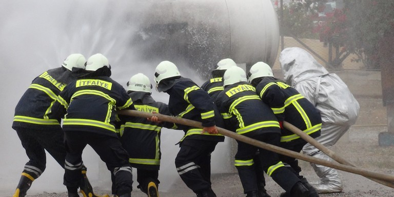 LPG training and fire drill with Civil Defence Organization and Fire Authority