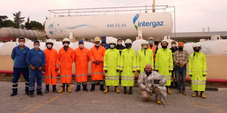 Intergaz, LPG Teknik Bilgilendirme ve LPG Yangınlarına Müdahale eğitimi gerçekleştirdi